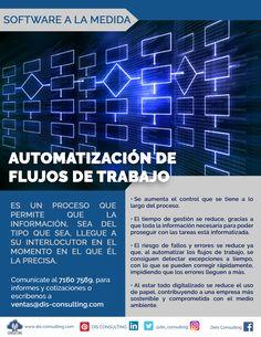 Automatiza tus flujos de trabajo y haz más eficientes los procesos.