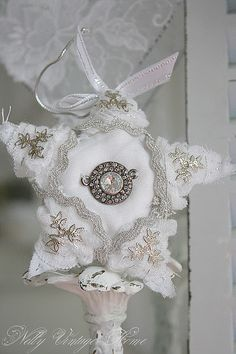 lovely linen and lace star