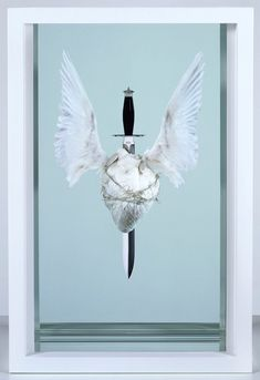 Damien Hirst (b. The Immaculate Heart♥Sacred, executed in 2008 Michael Craig, George Michael, Michael Art, Laura Lee, Contemporary Artists, Modern Art, Animal Slaughter, Hirst Arts, Learn To Fly