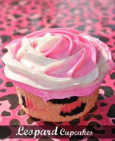 Leopard Cupcakes with Two Toned Rosette Frosting - A Spark of Creativity