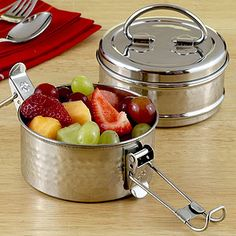 Cool stainless steel lunch box find at World Market. $9.99