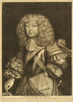 Portrait of Louis de France, the Grand Dauphin, as a boy,  1668-70 etching and engraving. French school