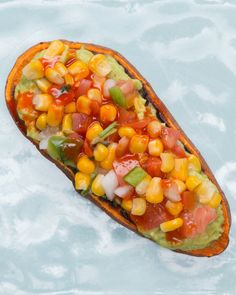 Servings: 1 INGREDIENTS1 sweet potato ½ small avocado, mashedSalt, to tastepepper, to tasteCorn salsa, to tasteHot sauce, to tastePREPARATIONCut sweet potato into thin slices, about ¼ inch thick.Place in toaster and set it to the maximum cook time. When it pops, flip the sweet potato slices over and toast 1 more time. Depending on the strength of your toaster and your preferences, you may need to toast it 1 more time after that.Remove from toaster and let cool enough to handle.Mash half an…