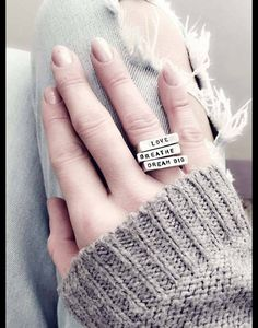 Rings – Personalized Sterling Silver mantra bar rings – a unique product by JSP-hand-stemped-jewelry on DaWanda