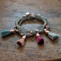 Silver Hematite double wrap bracelet - Vivien Frank Designs