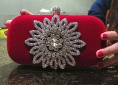 Sunflower Blink Blink Black Velvet/Classic Red Velvet Evening Clutch, Birthday Party Clutch, Wedding, Engagement Party, Graduation Party, by LuvHandmadeAtelier on Etsy