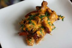 honey mustard chicken with bacon and mushrooms.