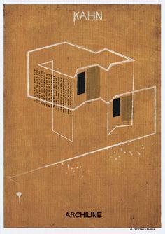 Architecture's Lines Illustrated Posters – Fubiz Media