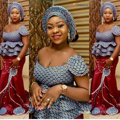 Beautiful Ankara Aso Ebi collection To Wow This Season. The African fashion style is unique and anyo. African Blouses, African Lace Dresses, African Dresses For Women, African Attire, African Wear, African Women, African Style, African Skirt, African Tops