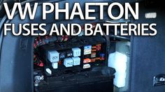 Where are batteries, fuses and relays in VW Phaeton (Volkswagen fusebox battery) Volkswagen Phaeton, Vw, Audi A8, Jukebox, Cars, Autos, Car, Automobile, Trucks