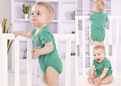Newborn Infant Baby Boy Short Sleeve Bodysuits Romper Jumpsuit Outfit Bird 0-3M #ibaby #Everyday