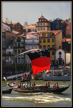 Barco RABELO boat for the transport of Porto wine - Porto Porto Portugal, Spain And Portugal, Portugal Travel, Montenegro, Malta, Porto City, Portuguese Culture, Europe Holidays, Port Wine