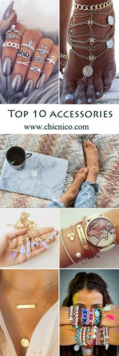 Accessories start from $4.99! You can find all the accessories here: jewelry, earrings, bracelet, necklace, hair clip, scarf, ring, sunglasses, cases for iphone & imac! Search more at chicnico.com!