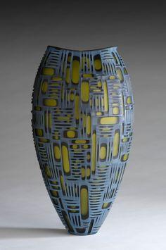 Art Glass vessel: Urbana Futura  2010, 49 x 27 x 24 cm, Private Collection  |  Photo by Ch.Lehmann  |  Artists:  Philip Baldwin & Monica Guggisberg  |  http://baldwinguggisberg.com/