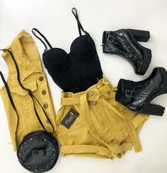 Ideas For Vintage Style Outfits Casual Shorts Teen Fashion Outfits, Edgy Outfits, Mode Outfits, Grunge Outfits, Cute Casual Outfits, Vintage Style Outfits, Outfits For Teens, Womens Fashion, Casual Shorts