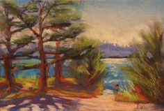 """pastel landscape painting /pastellmaal """"Laulasmaa maastik"""", 21 x 29,7 cm Keiu Kuresaar"""