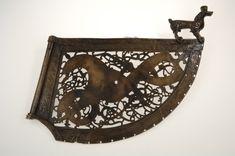 Copy of a brass Ringerike-style weathervane, Söderala kyrka, Sweden