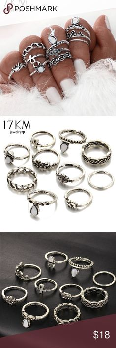 🆕 10 pc MIDI RING BOHO BEACH SET ! New 10 piece midi ring set. Very cute boho rings. NOTICE! This rings are a knuckle ring set. Jewelry Rings