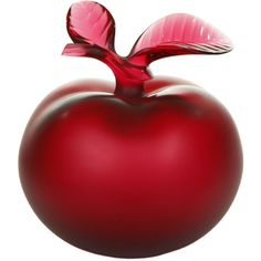 Lalique Red Apple Perfume Bottle (£1,045) ❤ liked on Polyvore featuring home, bed & bath, bath, bath accessories, perfume, apple, fillers, beauty, red and backgrounds