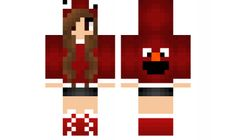 minecraft skin Elmo-Girl