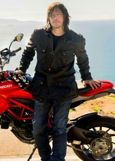 Norman with a Ducati