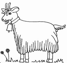 free printable Goat Coloring Pages for primary schoolers Free Printable Coloring Pages, Coloring Book Pages, Goat Picture, Cute Goats, Angora Rabbit, Coloring Pages For Kids, Farm Animals, Moose Art, Quilts