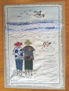 """This, that and everything inbetween: My """"free range"""" art cards Freehand Machine Embroidery, Free Motion Embroidery, Machine Embroidery Applique, Embroidery Patterns, Quilt Patterns, Fabric Postcards, Fabric Cards, Thread Art, Thread Painting"""