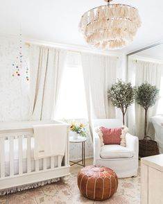 I am so excited to unveil our little girl's nursery decor! It turned out prettier than I could have ever imagined! It's such a sweet room! Nursery Room, Girl Nursery, Kids Bedroom, Nursery Decor, Bedroom Decor, Nursery Ideas, Bedroom Ideas, Kids Room Design, Nursery Design
