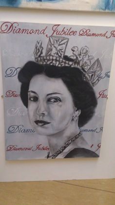 Queen runner up for Diamond Jubilee Portrait competition Oil on canvas
