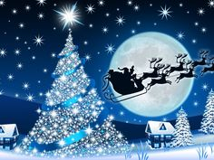 Santa Claus & A Blue Christmas Its Christmas Eve, The Night Before Christmas, Christmas Scenes, Disney Christmas, Christmas Pictures, Christmas Art, Merry Christmas Wallpaper, Holiday Wallpaper, Victorian Christmas