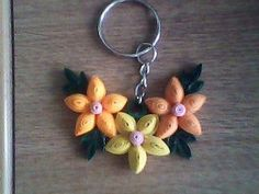 a Quilling Keychains, Quilling Jewelry, Quilling Designs, Paper Quilling, Key Tags, Paper Book, Paper Folding, Different Patterns, Fun Projects