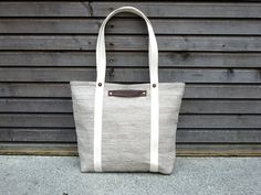 Mid Season Special, tote bag made from Belgium linen. $75.00, via Etsy.