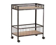 Industrial Wood Cart