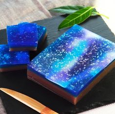 キラキラ天の川ようかん by cottaスタッフ | cotta Japanese Pastries, Japanese Bread, Japanese Snacks, Japanese Sweets, Japanese Wagashi, Diy Resin Art, Aesthetic Food, Cute Food, Chocolate Desserts
