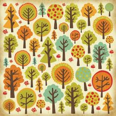 Kaisercraft - Tiny Woods - 12 x 12 Gloss Specialty -Forest