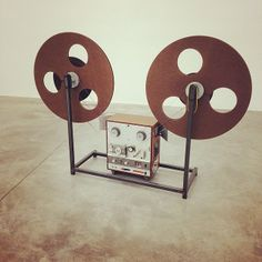 Artist-in-residence beat machine which plays giant spools that hold four thousand hand-spliced cassettes. by studiomuseum Tape Recorder, Audio System, Plays, Artist, Vintage, Games, Artists, Vintage Comics
