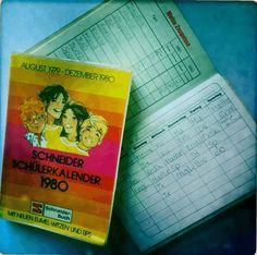 Wer erinnert sich noch an den Schneider Schülerkalender? Mit Eumel!