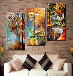 Framed Large Hand painted Abstract Modern Wall Painting Rain Tree Road Palette K. - Shelby Garloch - - Framed Large Hand painted Abstract Modern Wall Painting Rain Tree Road Palette K. Rain Painting, Oil Painting On Canvas, Painting Trees, Canvas Wall Paintings, Art On Canvas, Family Painting, Framed Canvas, Acrylic Paintings, Oil Painting Pictures