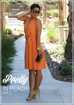 #TBT DIY Peach Dress + Pattern Review - Mimi G Style