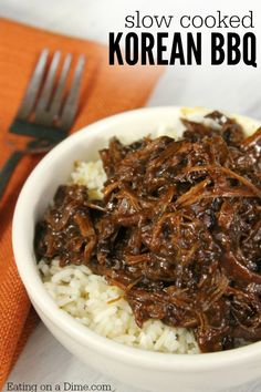 Crock Pot Korean BBQ - SO flavorful!