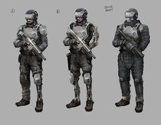 Spent some time developing costume designs for generic soldier/future marines