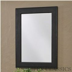 Southport Large Mirror - Black - 22x30 $90