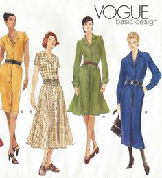 90s Vogue Basic Design Sewing Pattern 2326 Womens by CloesCloset