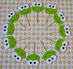 Hello Kitty Keroppi Style Cupcake Toppers set by collegesxpensive, $5.99