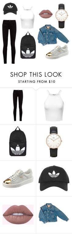 """Blå mandag"" by k-fevre on Polyvore featuring Gucci, Topshop, Daniel Wellington, Puma and Balenciaga"