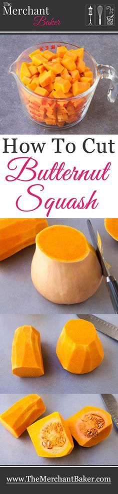 How to Cut Butternut Squash. An easy step by step tutorial on how to safely cut up butternut squash for all your delicious fall recipes!