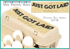 """2.5"""" x 8"""" Egg Carton Labels, Customized Label Perfect for Chicken Coop for…"""