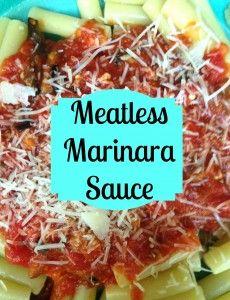 Meatless Marinara Recipe at www.grabbinglapels.com