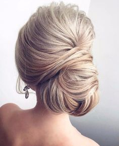 Side chignon bun updo bridesmaid hair wedding