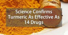 Turmeric shown to be as effective as 14 drugs